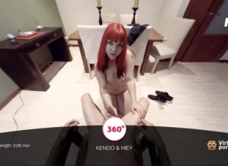 Hot redhead May gets her mouth fucked