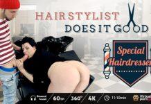 Hair stylist does it good VR Porn