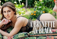 A Brunette in Black