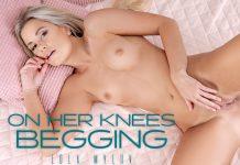 On Her Knees Begging